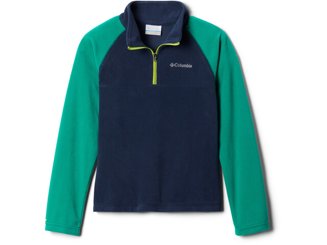 Columbia Glacial Pull Polaire Avec Zip Torse Garçon, collegiate navy/emerald green